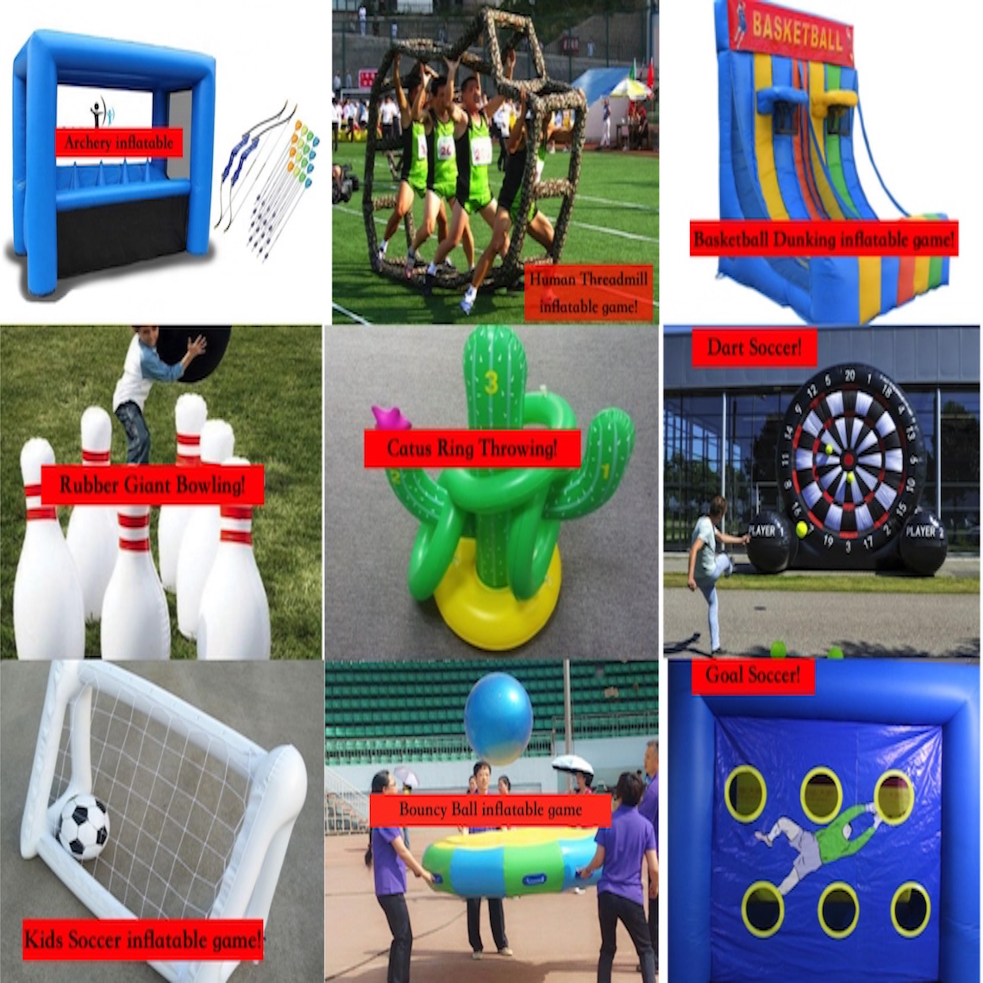 Inflatable Game Collage
